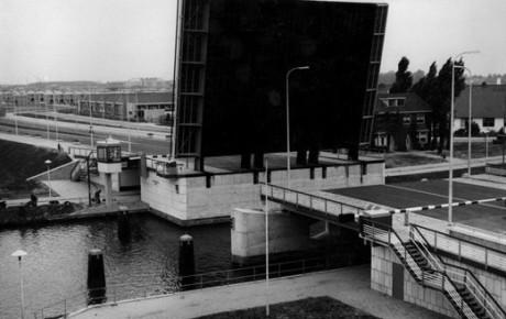 De Balijebrug na montage in de jaren '60.
